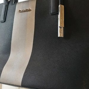 NWOT Saffiano Leather Calvin Klein Tote